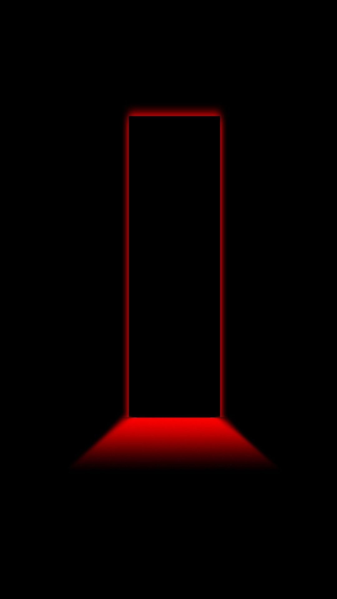 3D Black and Red iPhone Wallpaper Black wallpaper iphone