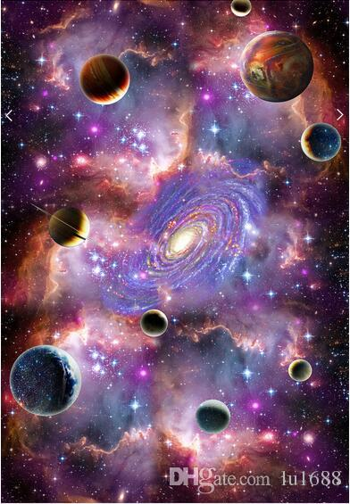 Space Galaxy 3D Ceiling Ceiling Mural Large Mural Wallpaper Living Room Bedroom Wallpaper Painting TV Backdrop 3D Wallpapers Butterfly Wallpaper Buy