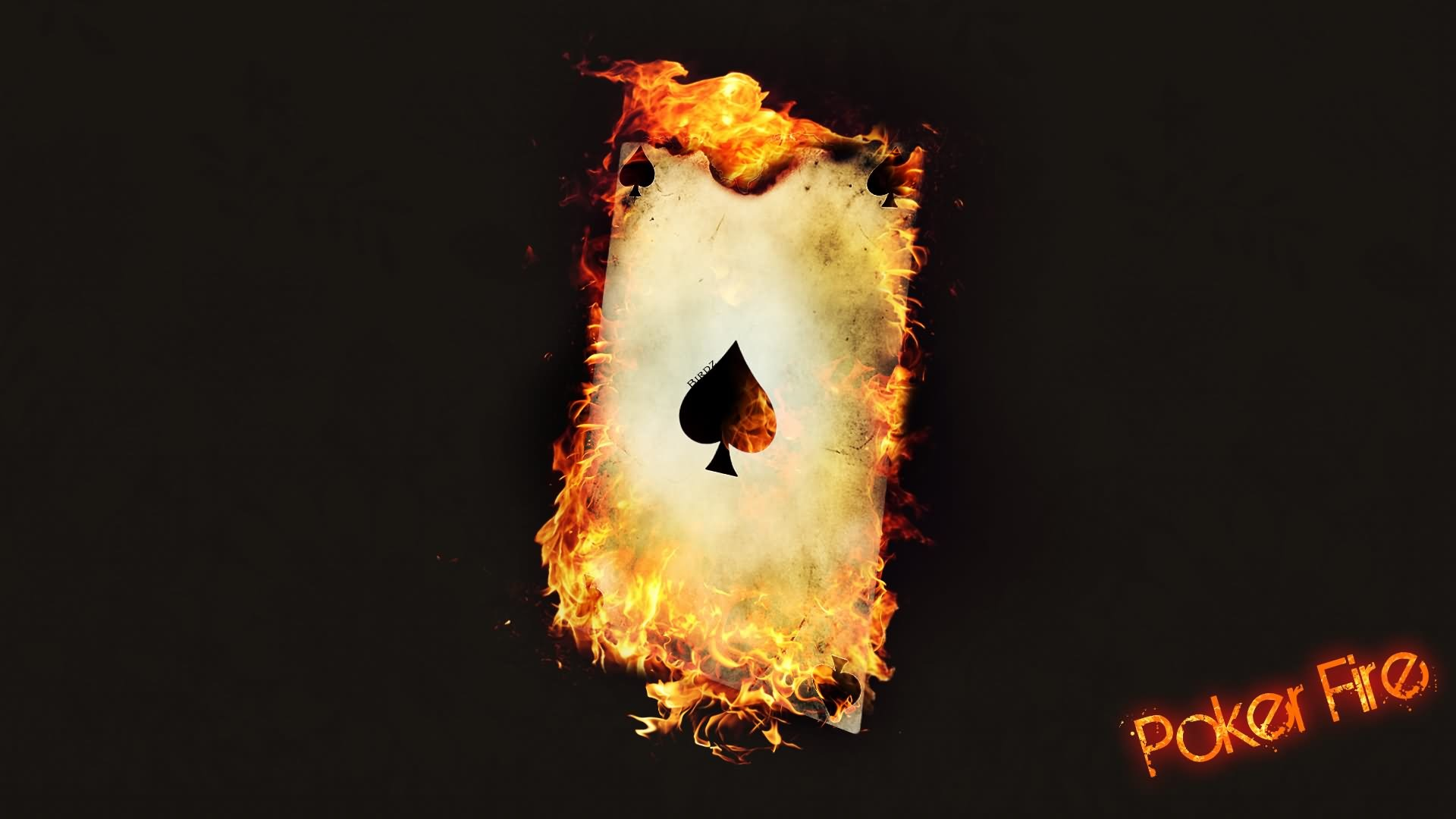 Click On The Image To Download Poker Wallpaper Burning Ace