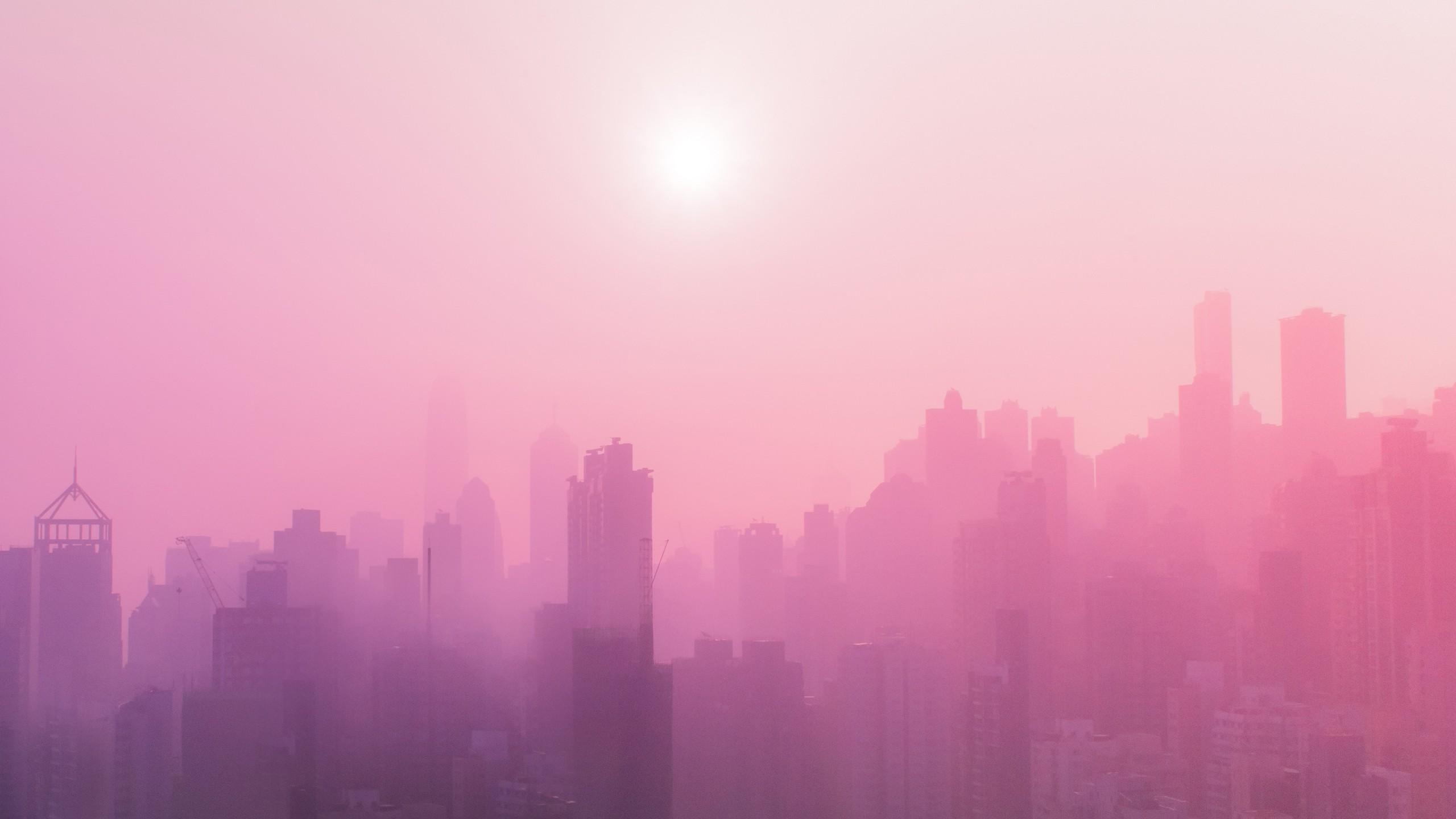 Pink Urban Skyscrapers 4K Wallpapers HD Wallpapers ID 23385