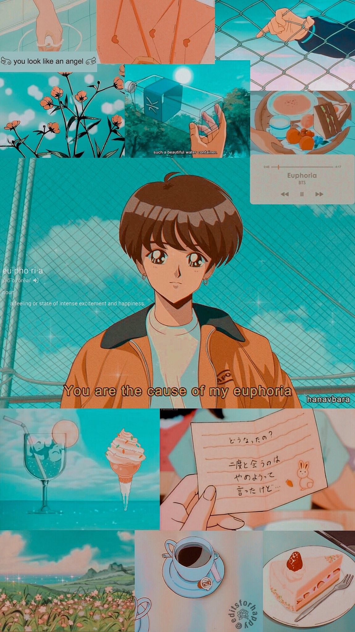 Jungkook Aesthetic Anime Wallpaper Credits to twitter