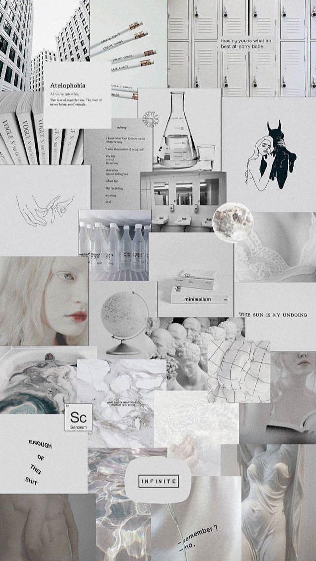 Minimalist Aesthetic Collage Wallpaper Misspentsonicyouth.com