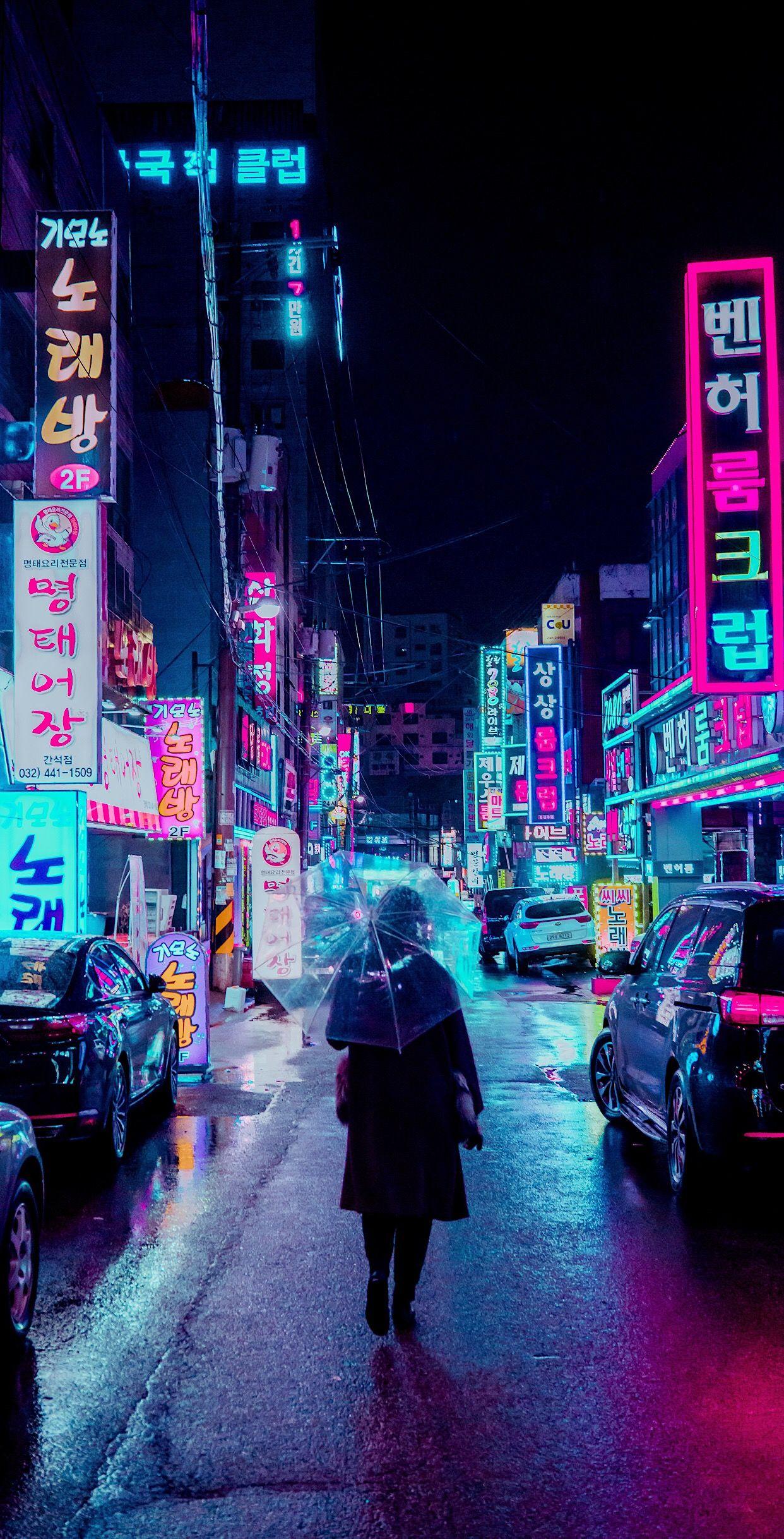 Neon City Wallpaper for Desktop and Mobiles iPhone 6 6S