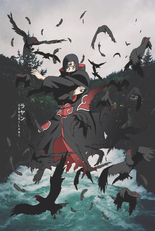 Itachi aesthetic wallpapers. Design by on We Heart It