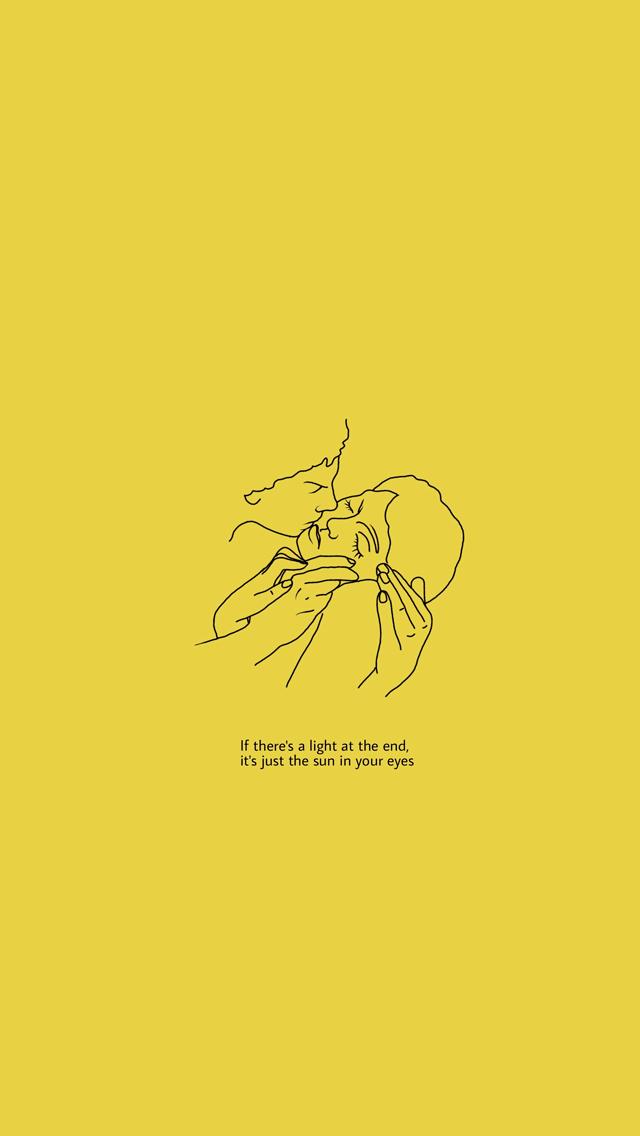 Tumblr Popular Aesthetic Yellow Wallpaper Iphone