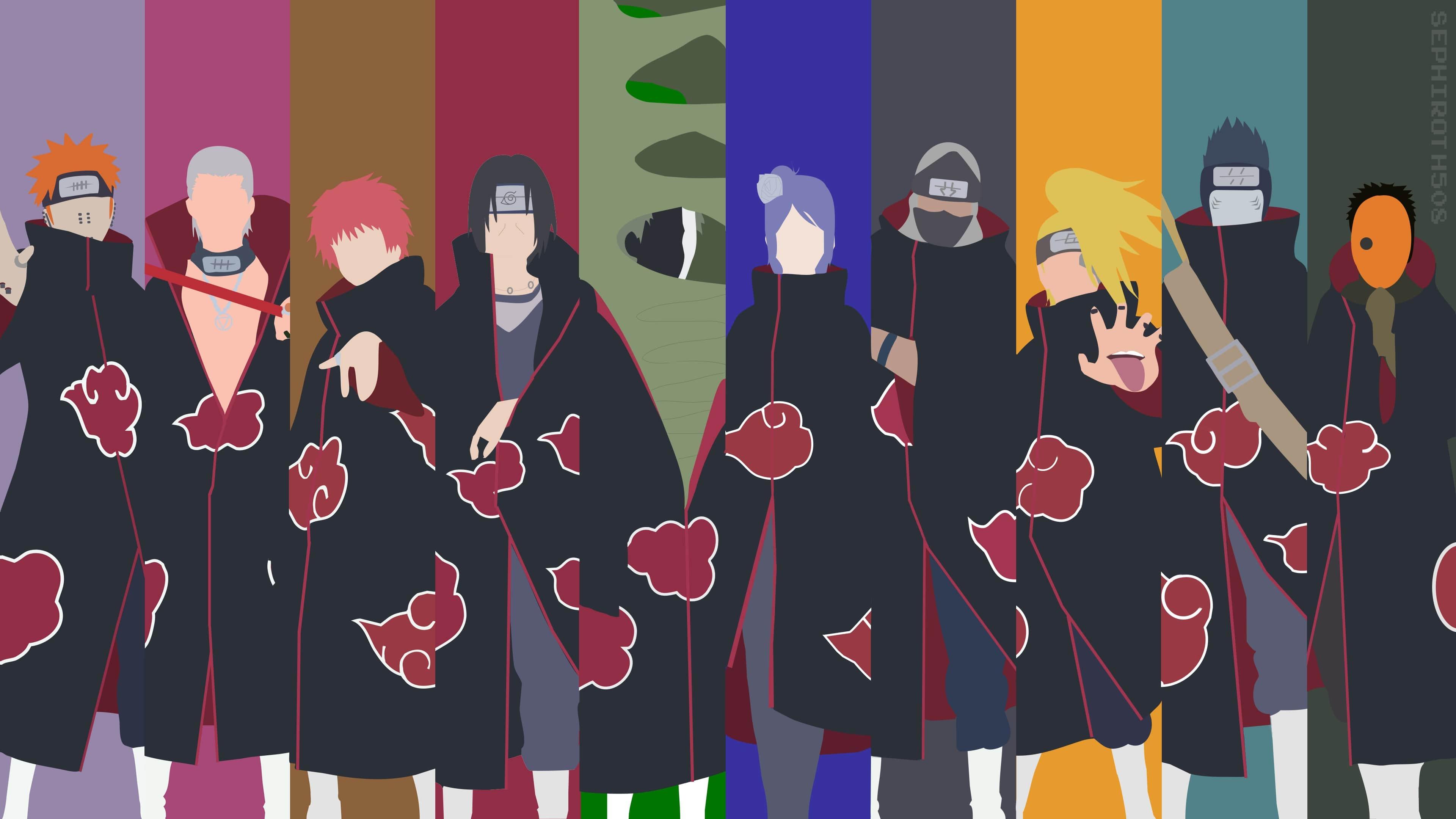 Wallpaper of Anime Naruto Akatsuki background HD image