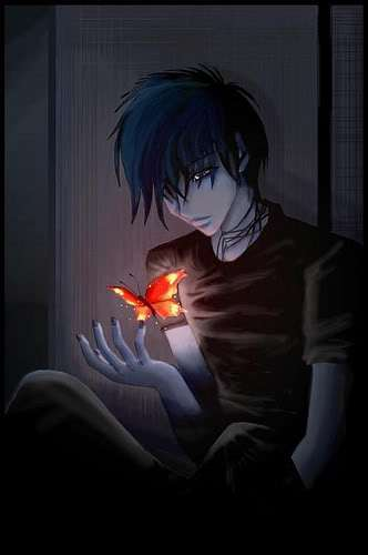 Alone Anime Boy Posted By Michelle Sellers