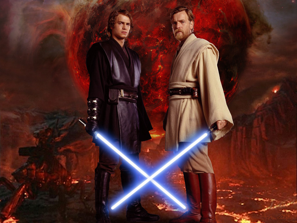 Anakin Vs Obi Wan Wallpaper Posted By Ethan Cunningham