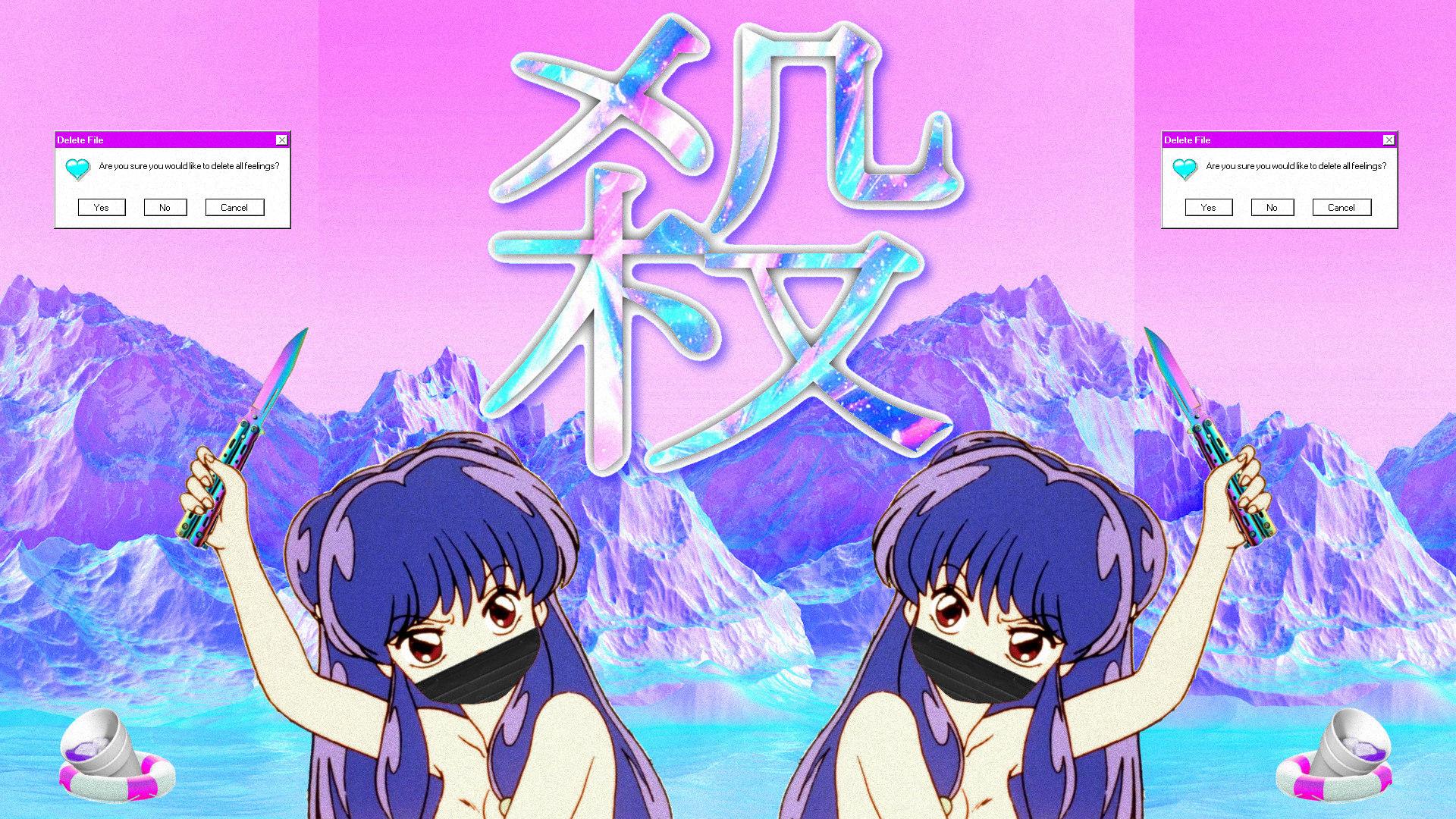 a e s t h e t i c Vaoorwave Wallpaper mostly anime dump