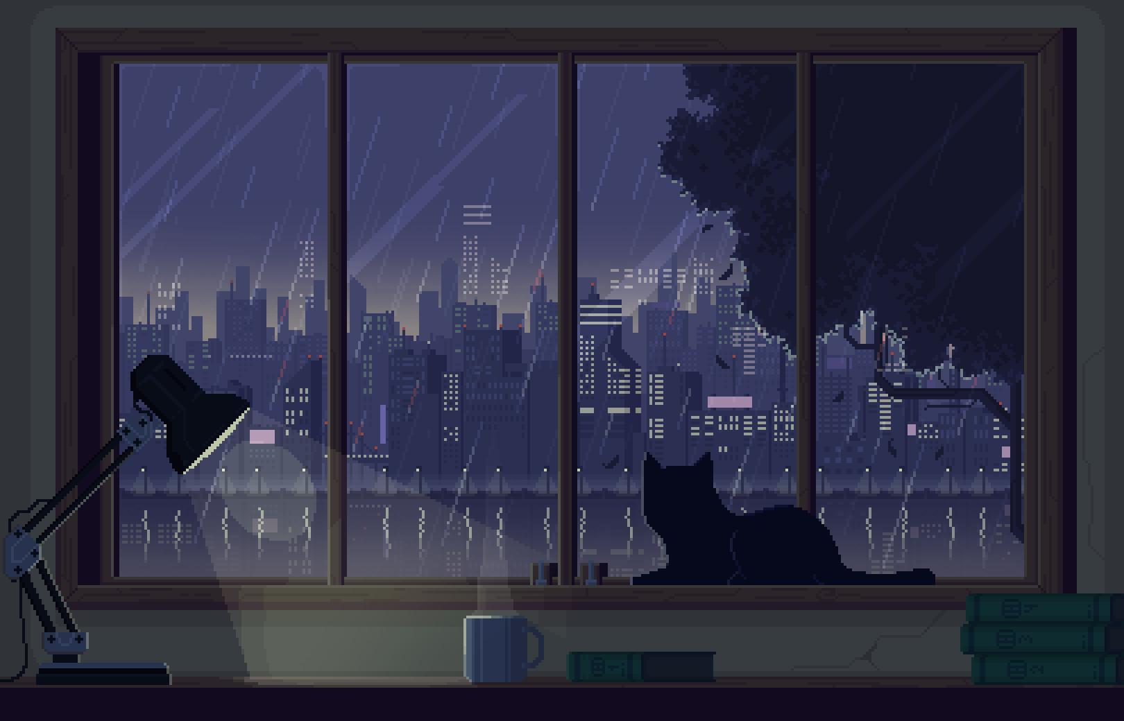 Anime Aesthetic Desktop Wallpaper Posted By Michelle Walker