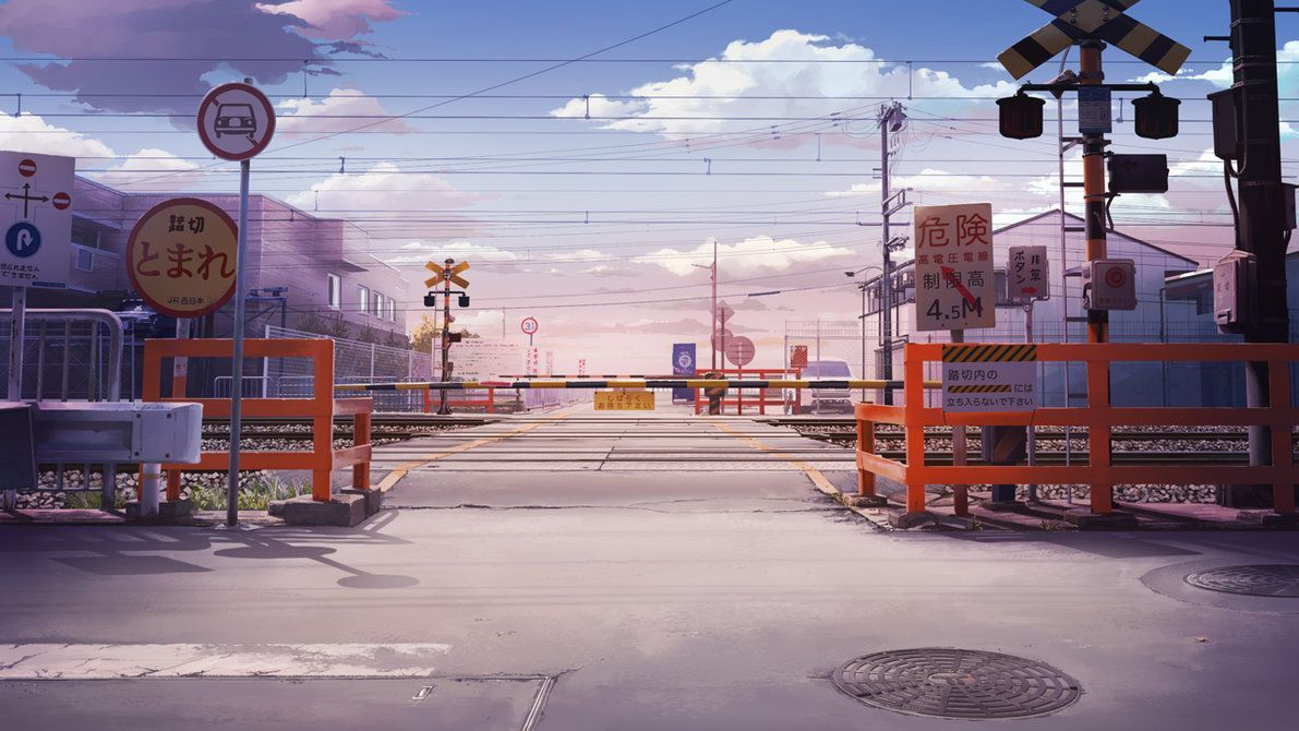 Anime City Street Background Posted By Ryan Cunningham