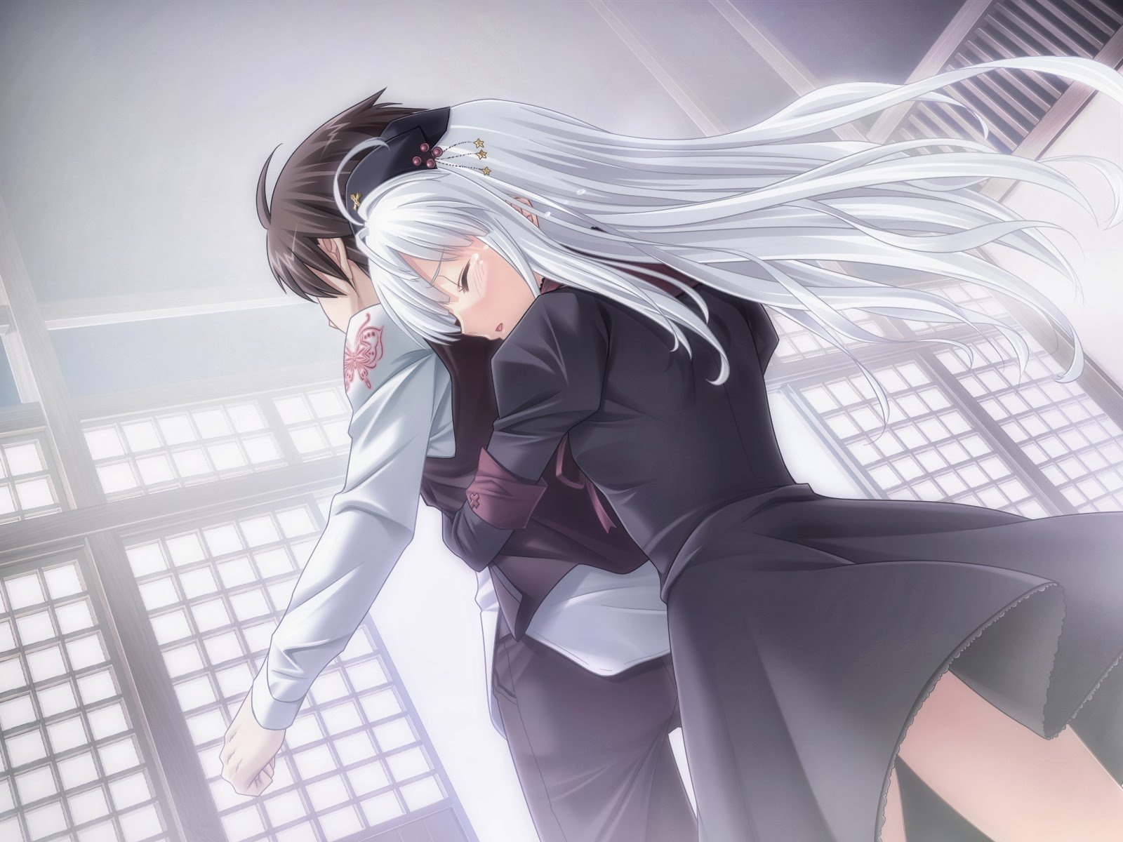Anime Couple Hug Wallpapers Posted By Zoey Peltier