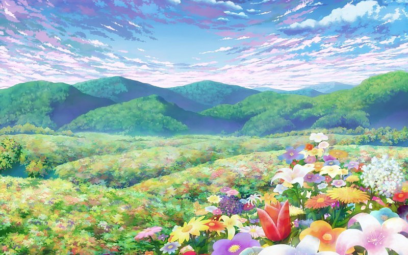Anime Flower Wallpaper Posted By Zoey Thompson