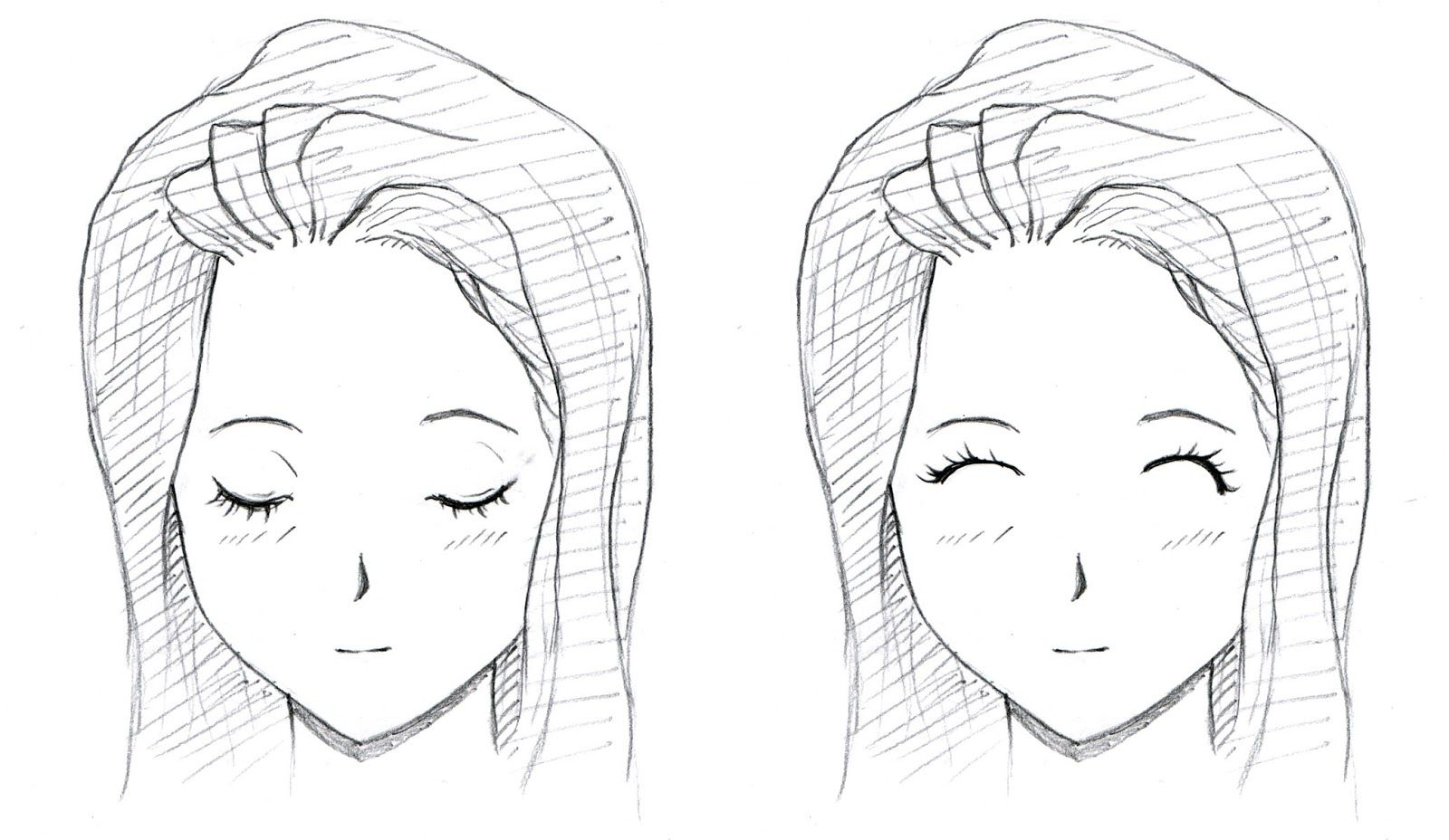 Anime Girl Closed Eyes Posted By Michelle Thompson