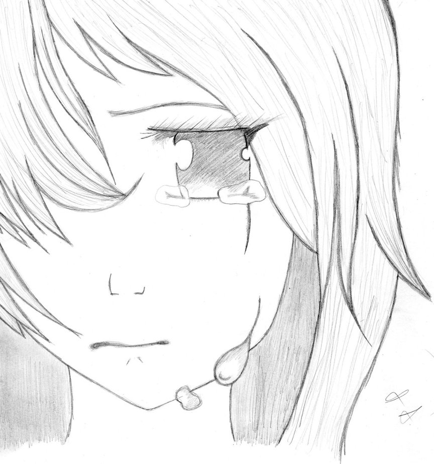 Anime Girl Drawing Sad posted by Ethan Walker