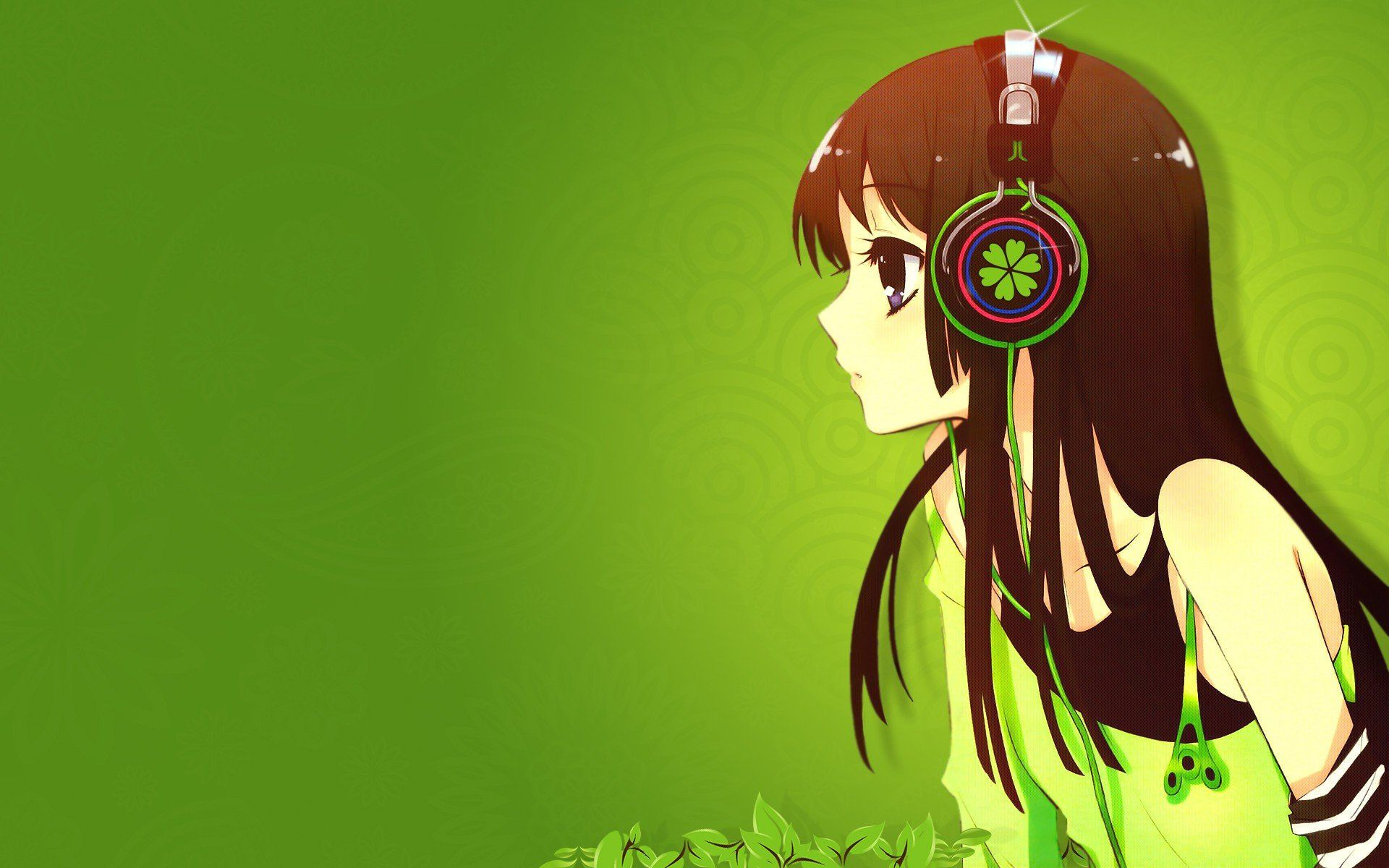 Anime Girl Headphones Wallpaper Posted By Michelle Sellers