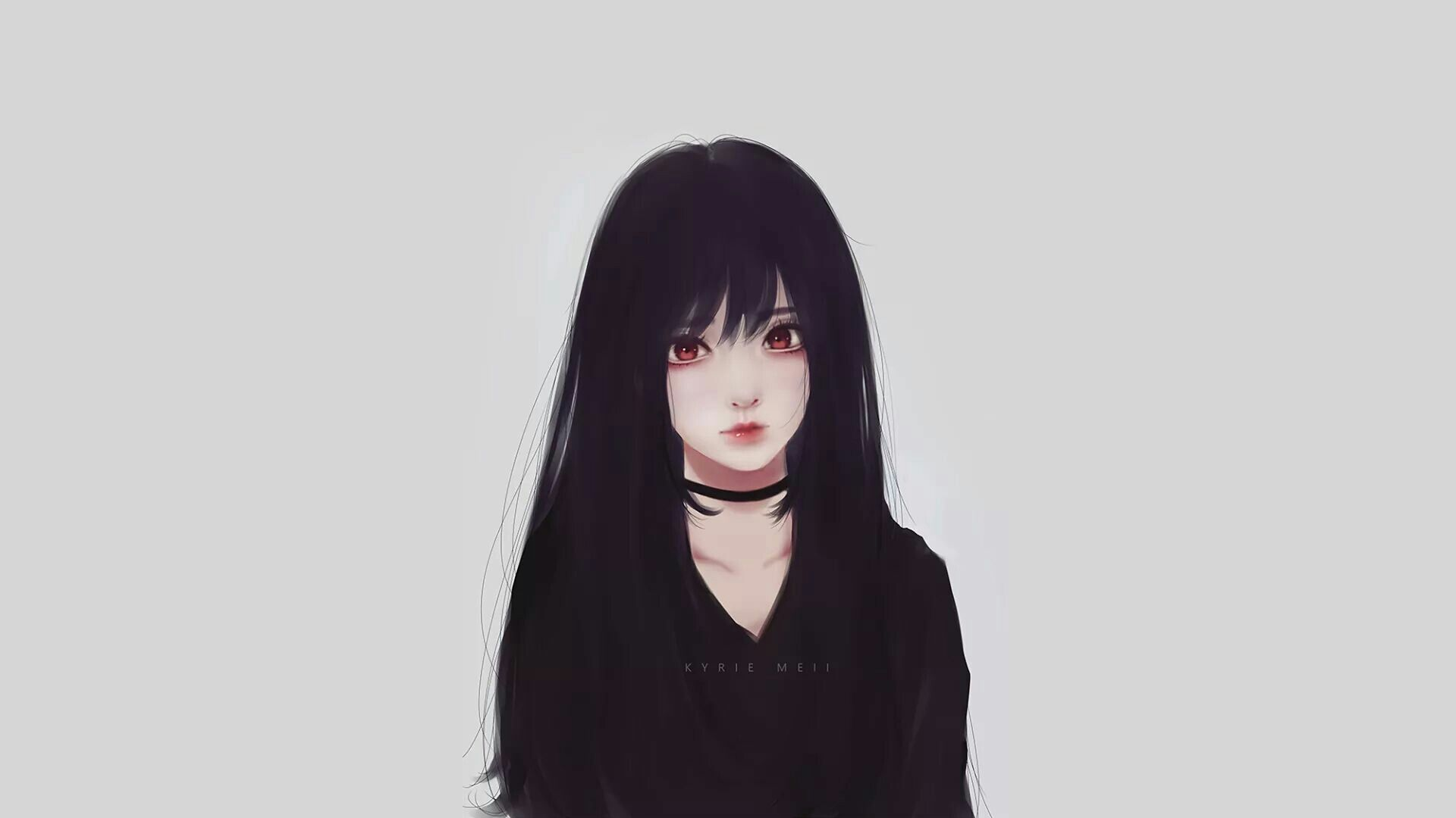 Anime Girl Long Black Hair posted by Sarah Walker