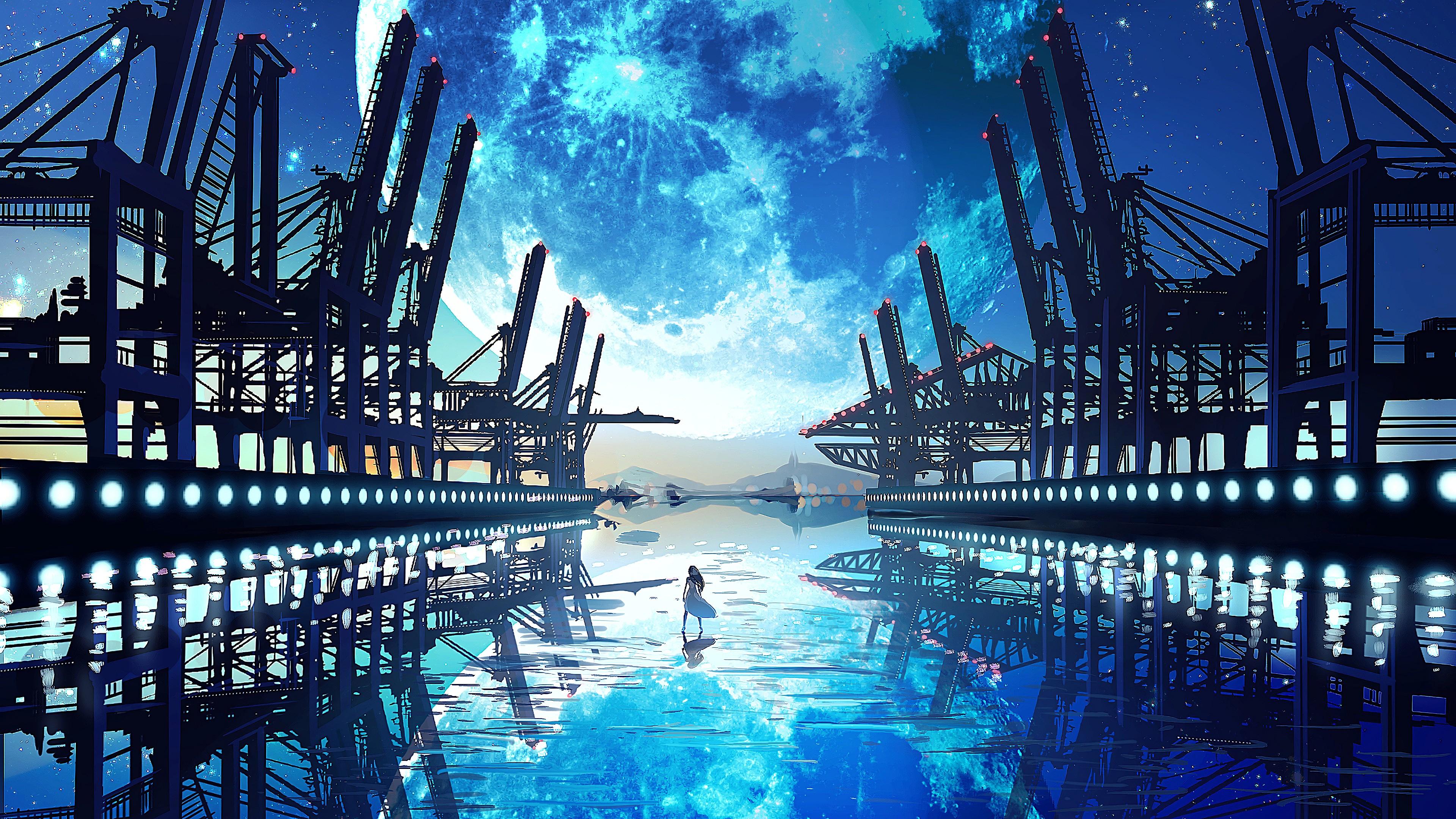 Anime Landscape Wallpaper 4k Posted By John Simpson