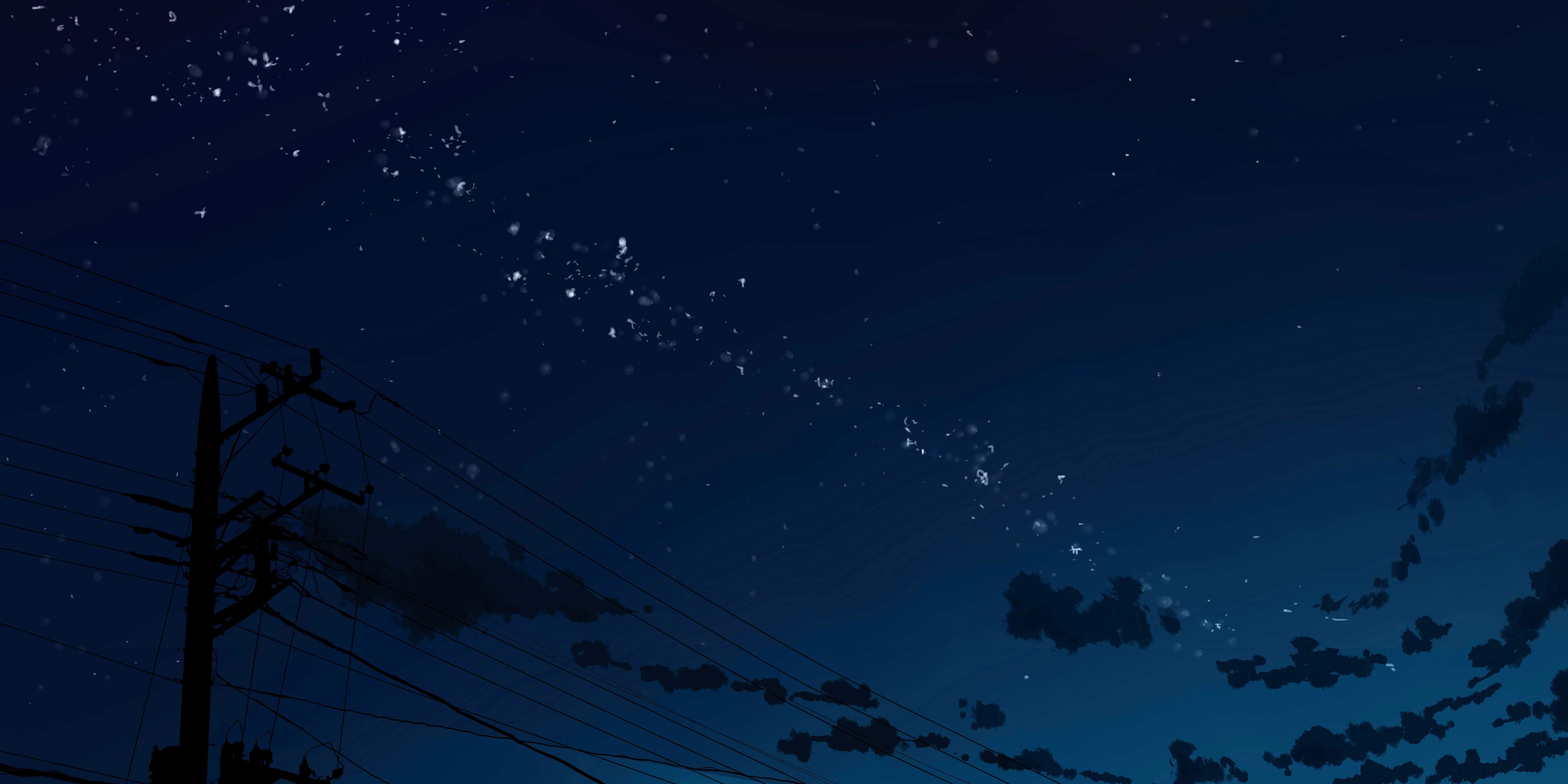 Anime Night Sky Wallpaper Posted By Sarah Sellers