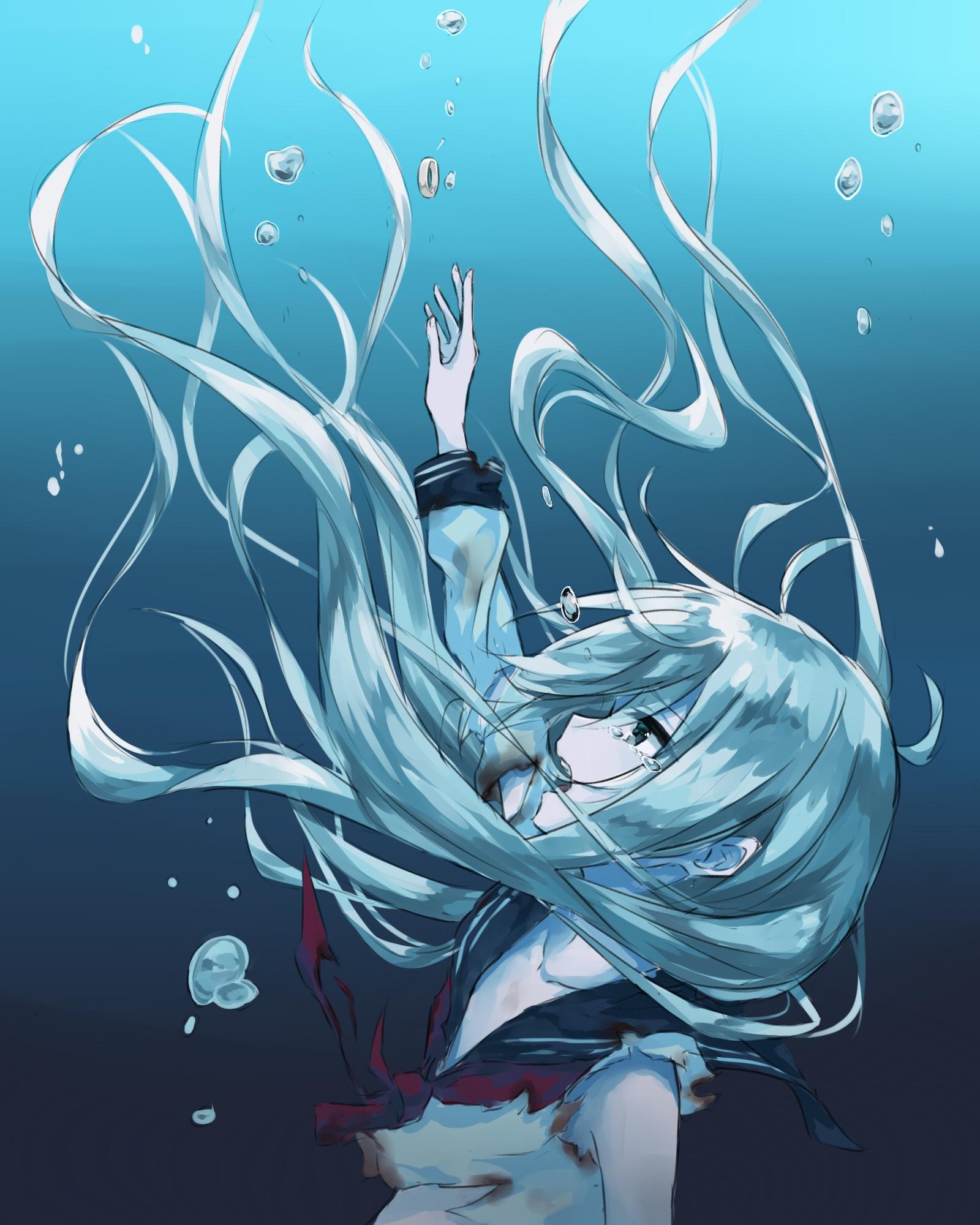 1mib 1600x2000 Sad Anime Girl Wallpaper Hd 4231 Anime