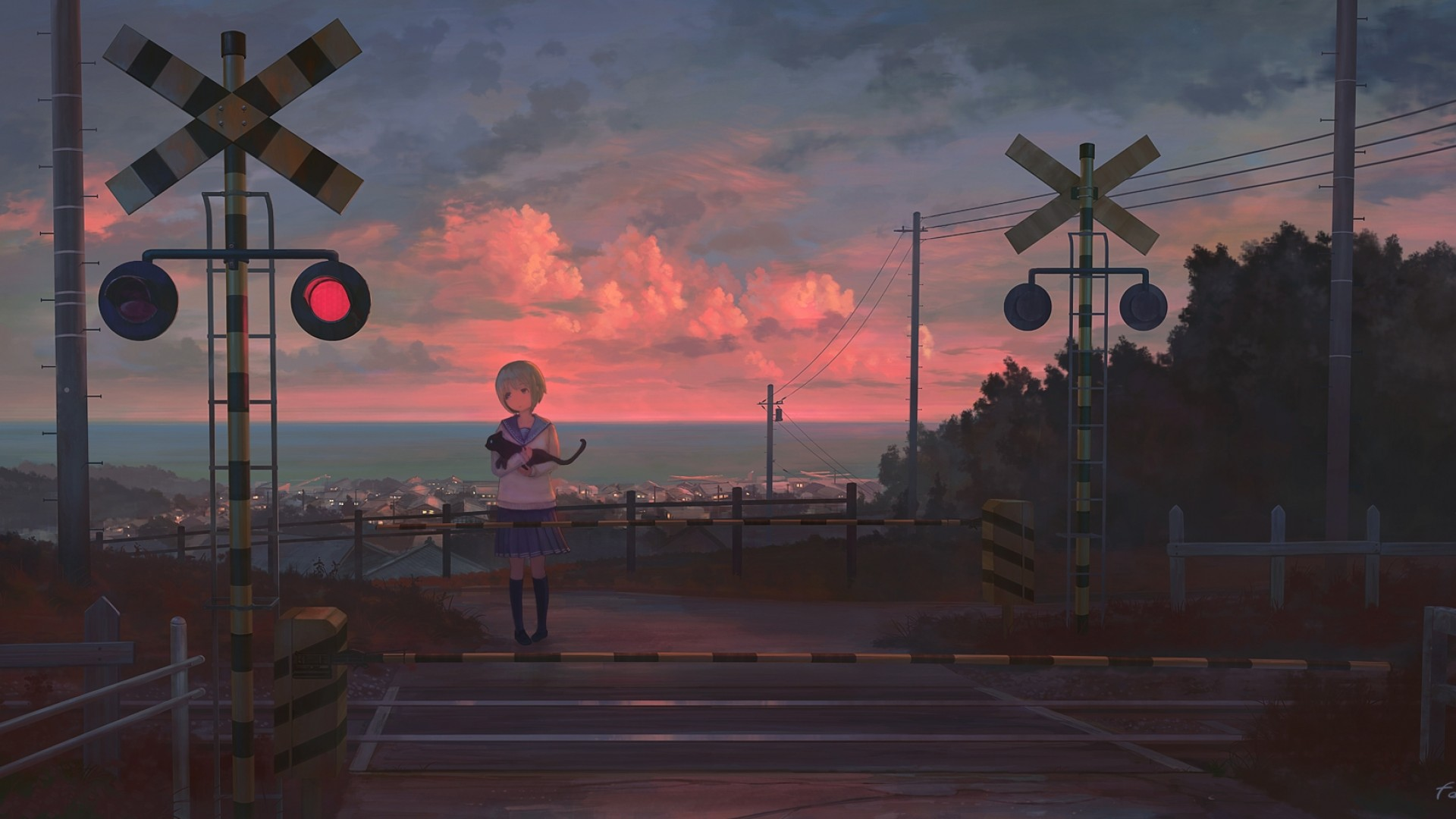 Anime Scenery Wallpaper 1920x1080 Posted By Ryan Tremblay A blog dedicated to the beautiful scenery and landscapes of anime. anime scenery wallpaper 1920x1080
