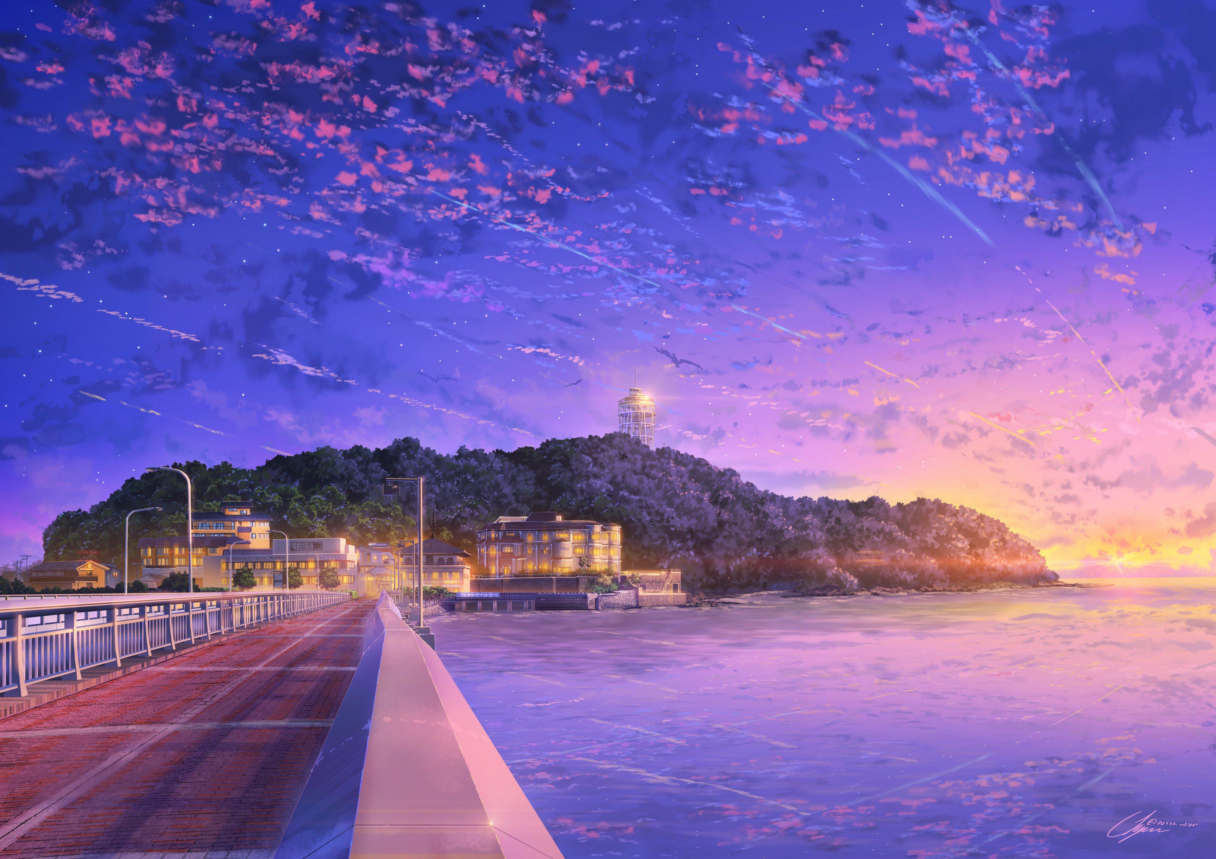 Anime Sky Wallpaper Posted By John Walker