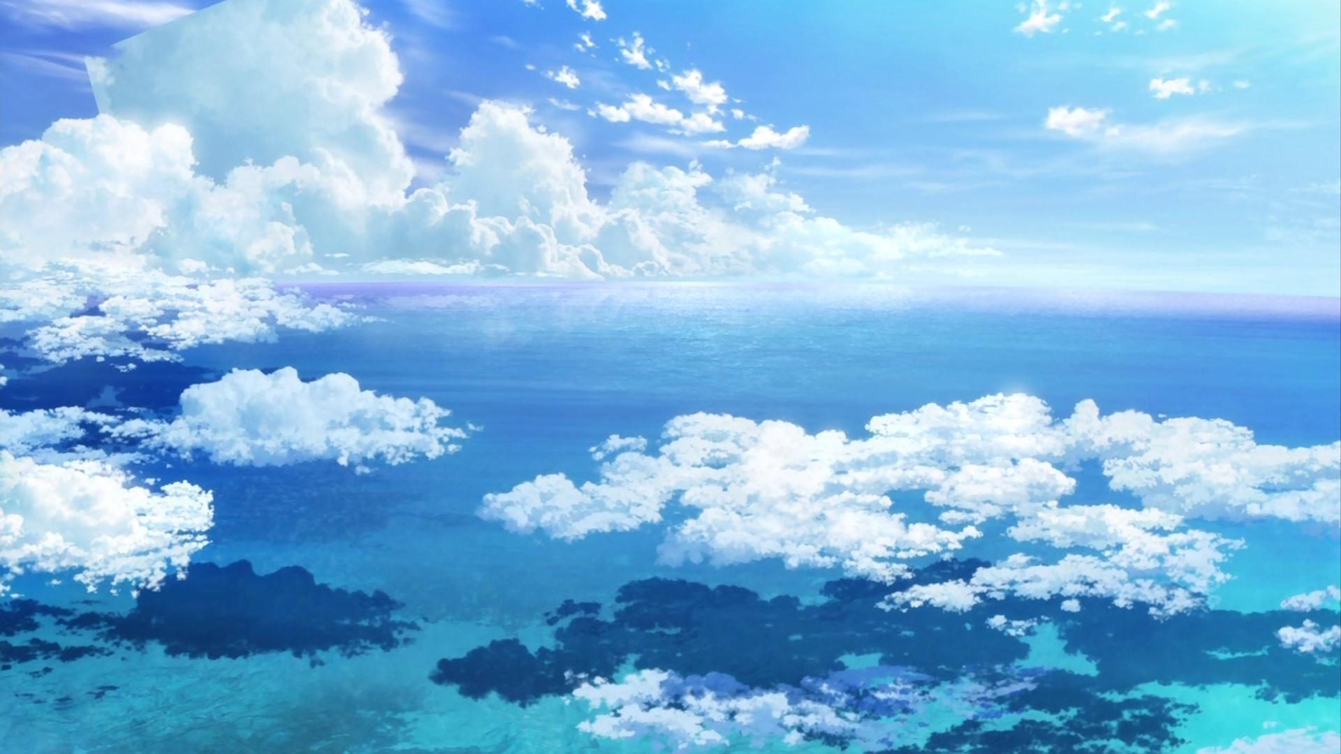 Anime Sky Wallpaper Posted By John Walker