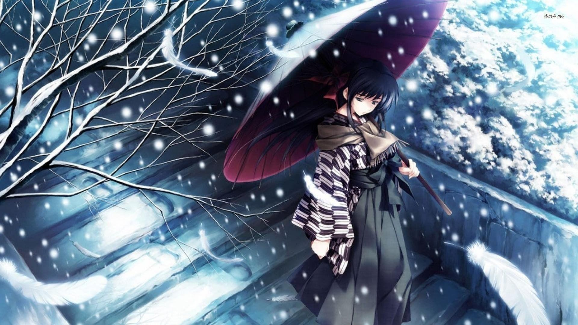 Anime Snow Background Posted By Ryan Walker