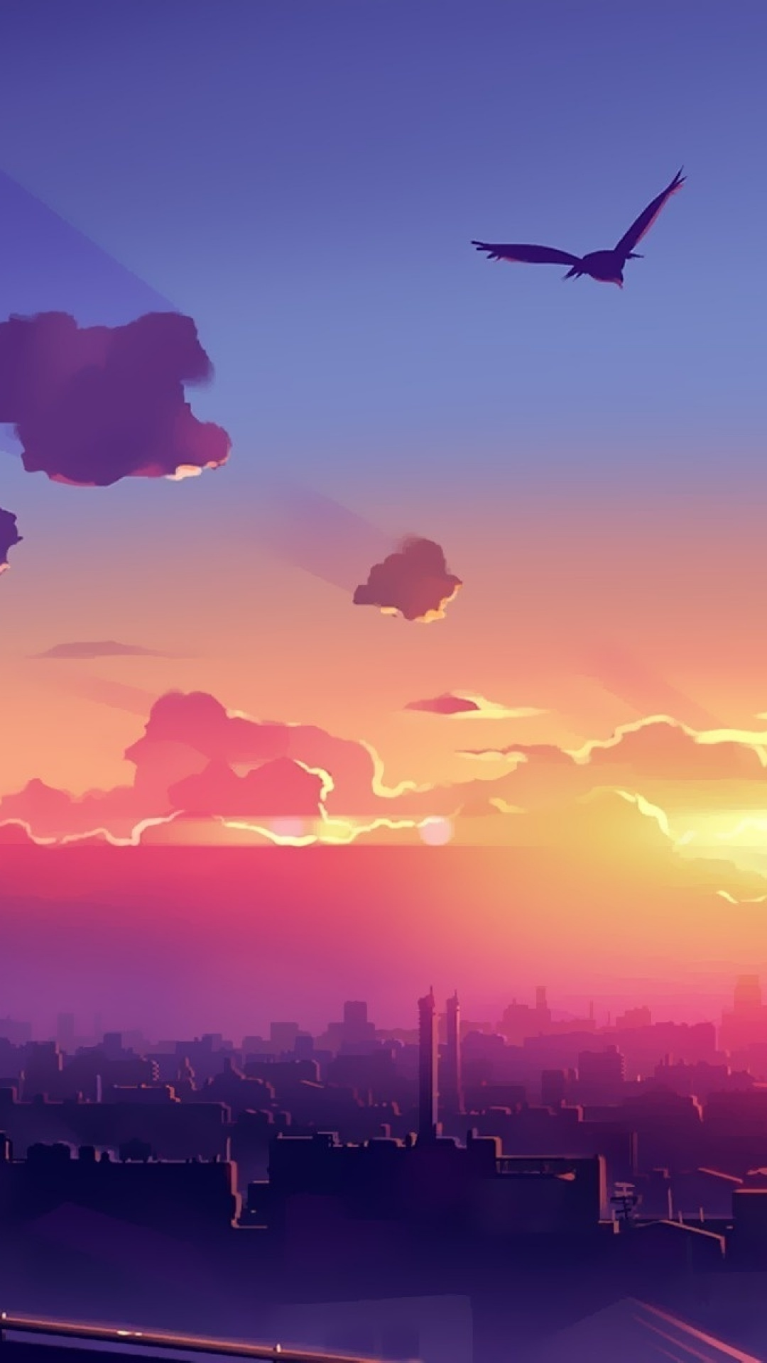 Anime Sunset Wallpaper Posted By Ryan Anderson