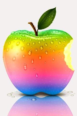 Download Rainbow 3D Apple IPhone Wallpaper Mobile Wallpaper
