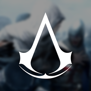 Set of Two Assassins Creed Logos Sticker Decals Four Styles Available
