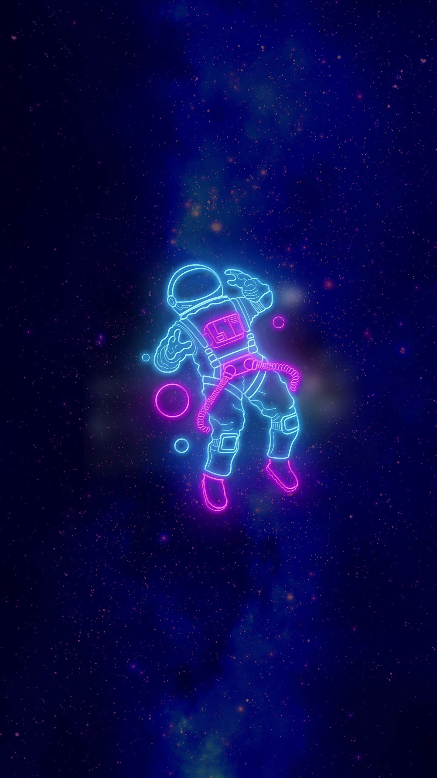 Neon Astronaut Wallpaper iphone neon Astronaut wallpaper