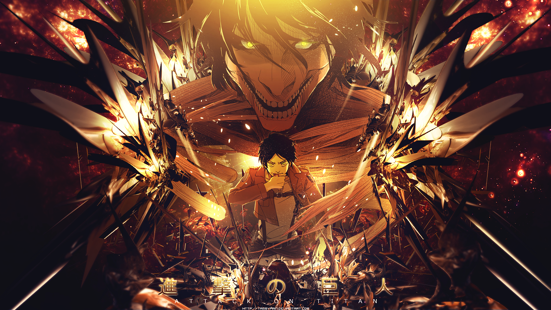 Attack On Titan Desktop Background Posted By Zoey Anderson