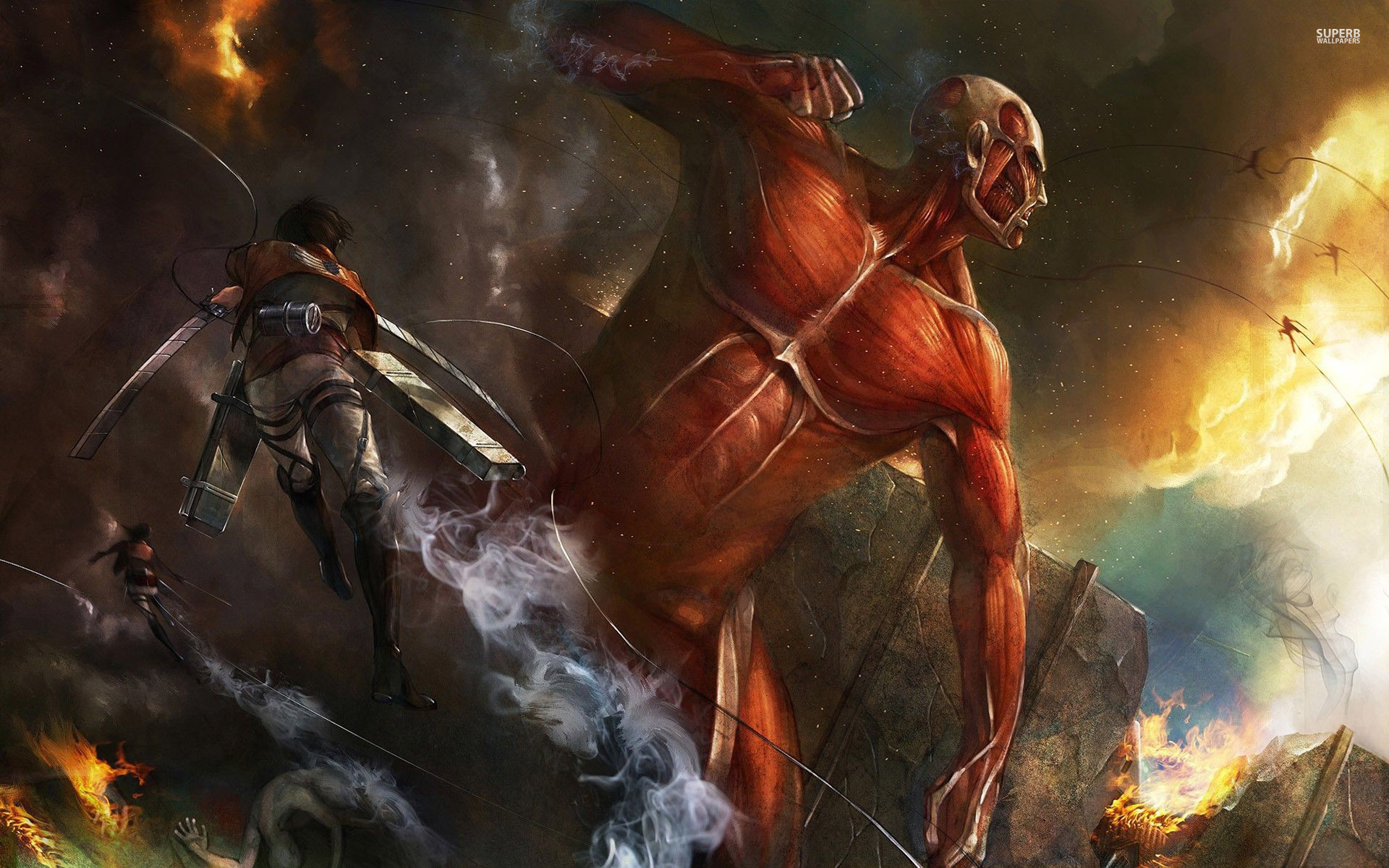 Attack On Titan Desktop Wallpaper Posted By John Peltier