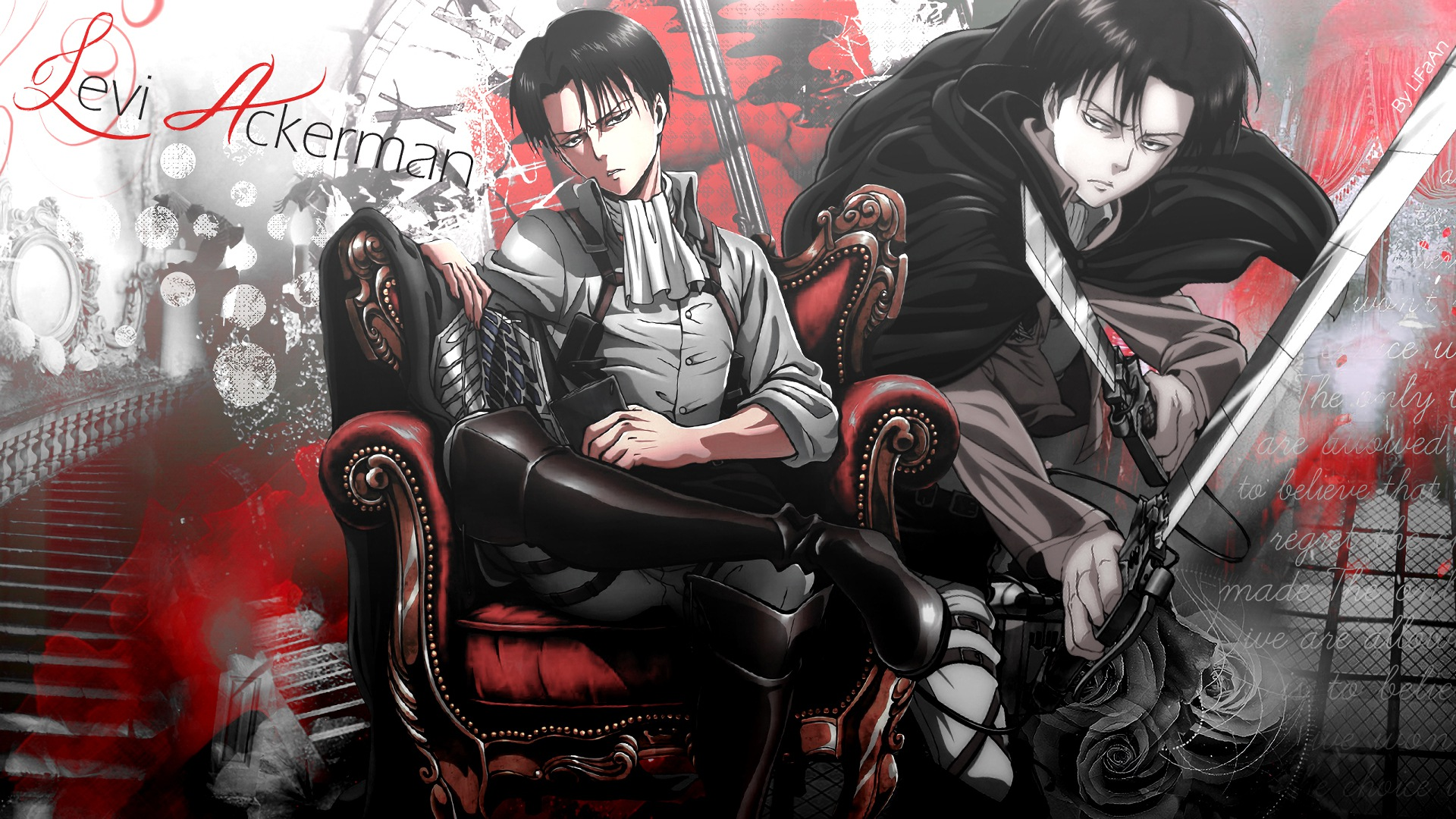 Attack On Titan Levi Ackerman Wallpapers Posted By Zoey Mercado
