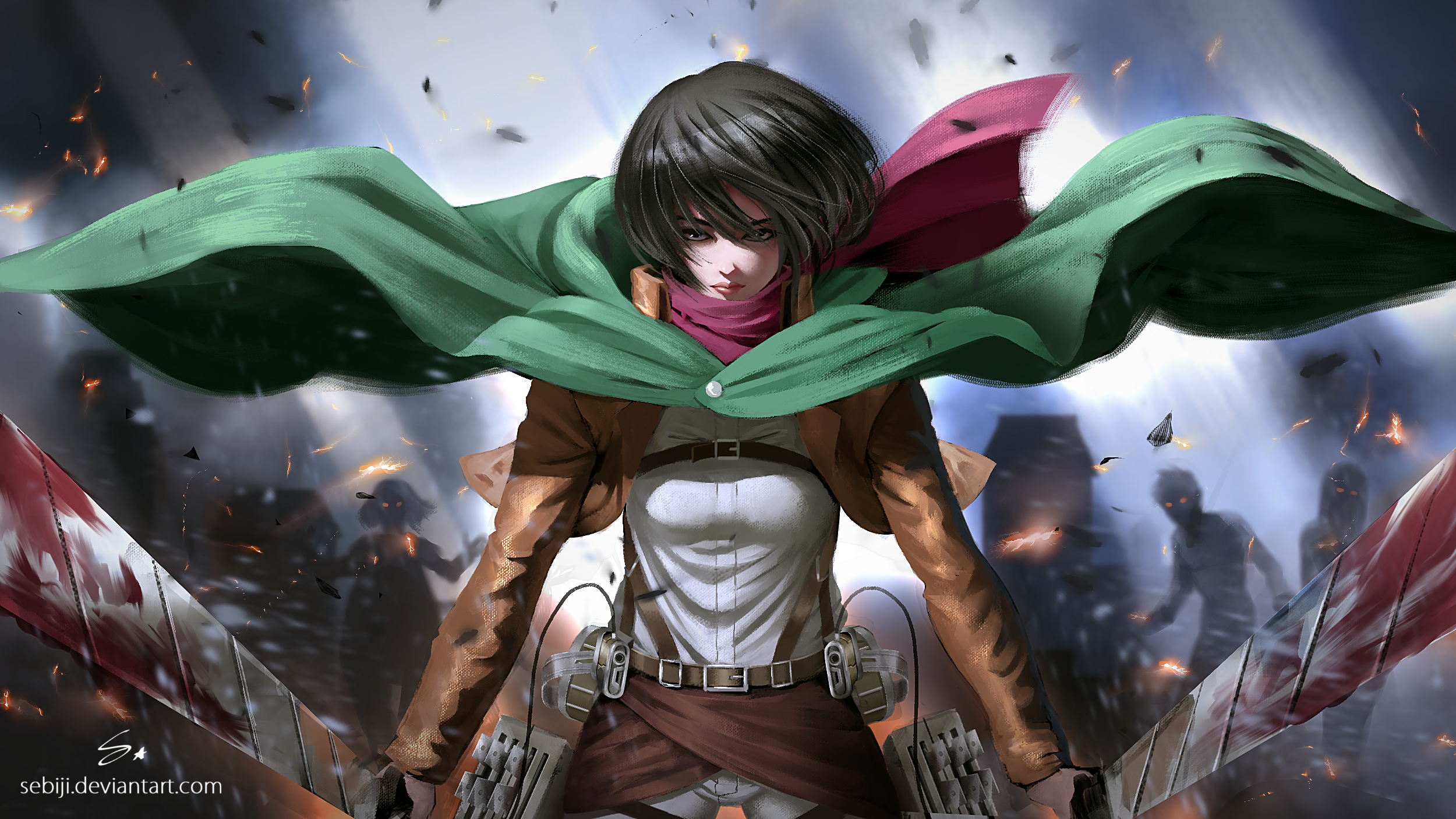 Attack On Titan Mikasa Ackerman Wallpapers Posted By Sarah Peltier