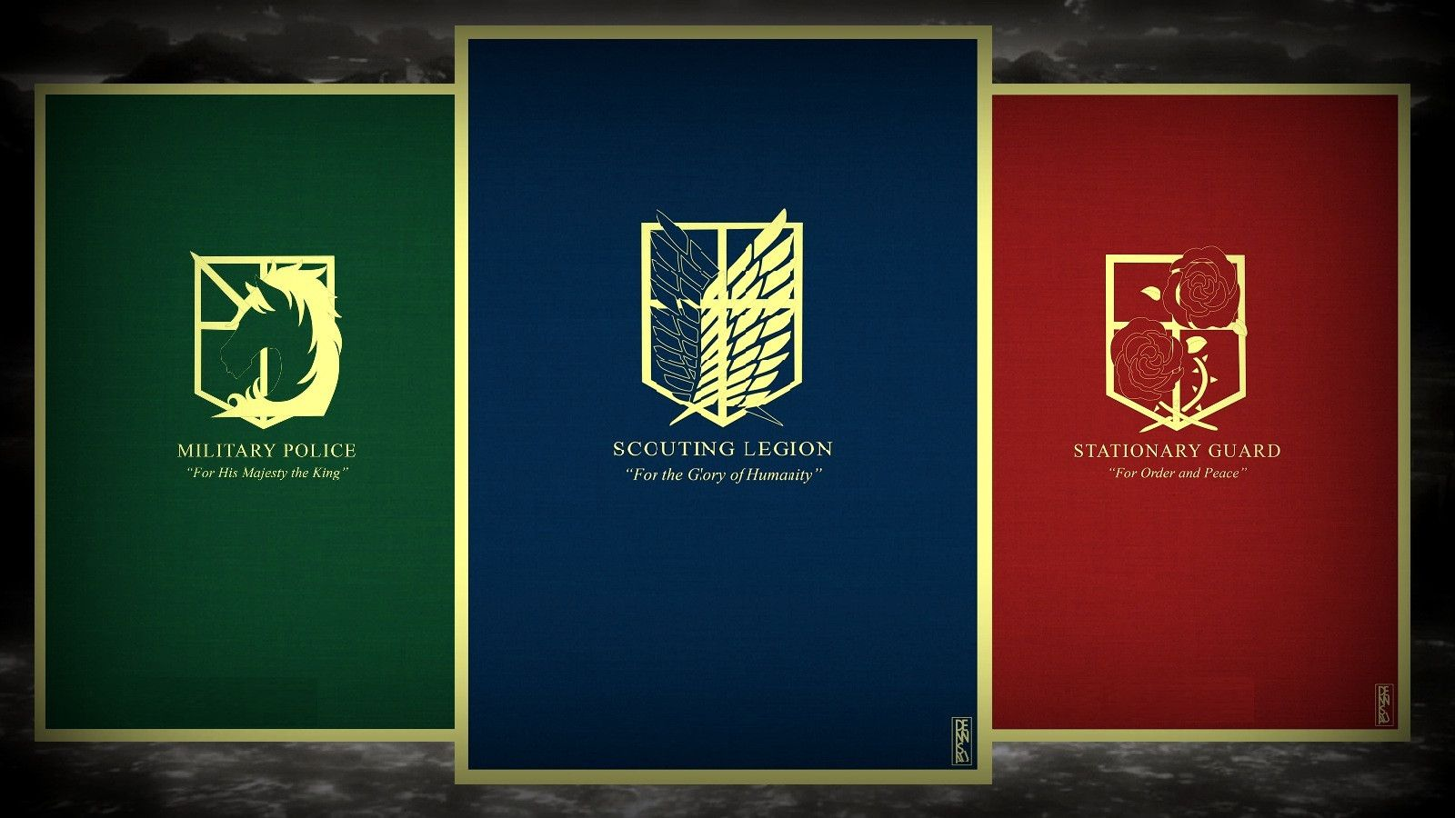 Attack On Titan Scouts Logo Posted By Sarah Anderson