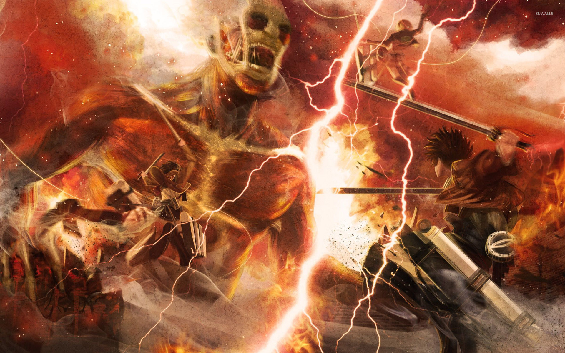 Attack On Titan Wallpaper 1080p Posted By Ethan Cunningham