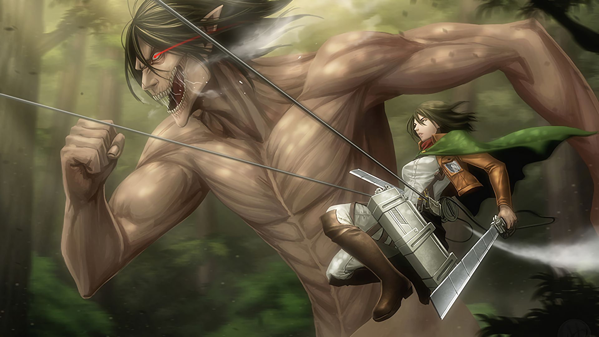 Attack On Titan Wallpaper Mikasa Posted By Zoey Cunningham