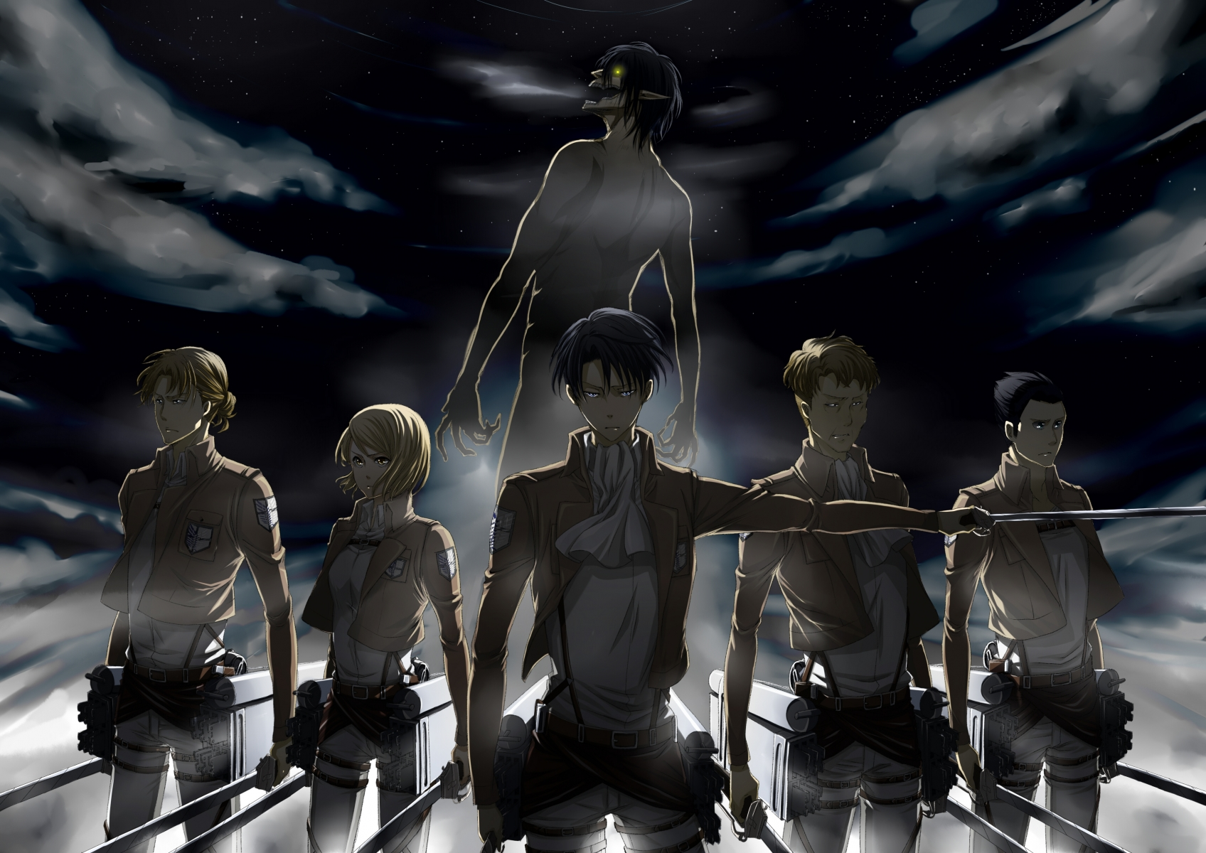 Attack On Titans Hd Wallpaper Posted By Sarah Thompson