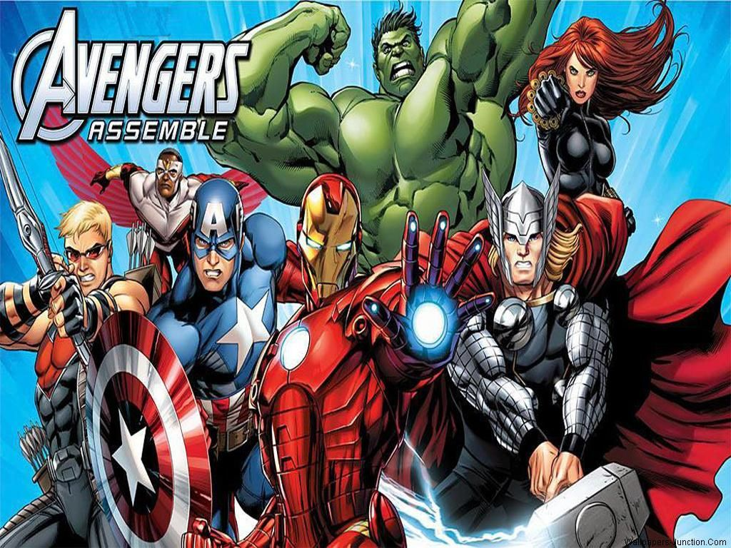 Avengers Cartoon Wallpapers Posted By Samantha Cunningham
