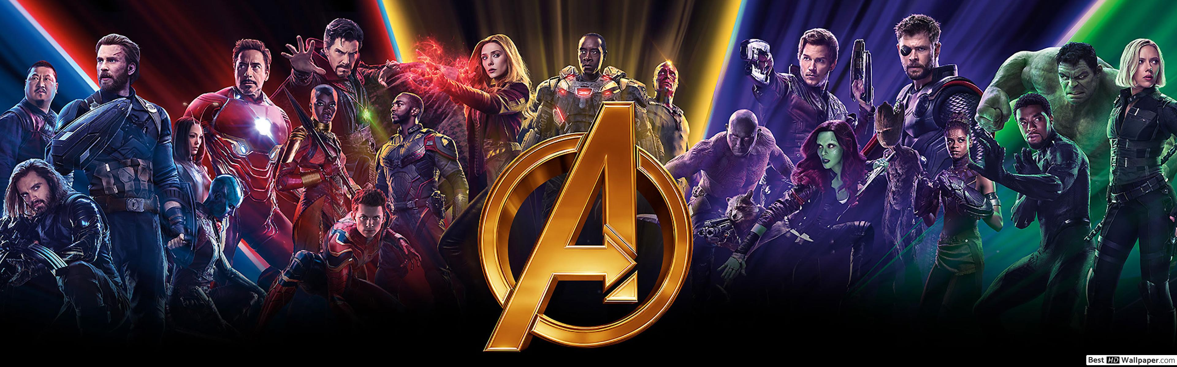 Avengers Endgame Dual Screen Wallpaper Posted By Michelle Sellers
