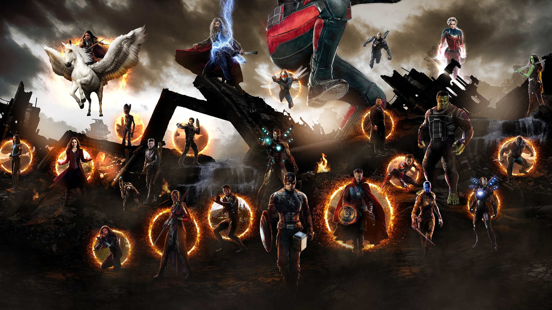 Avengers Wallpaper 1920x1080 Posted By Ethan Mercado