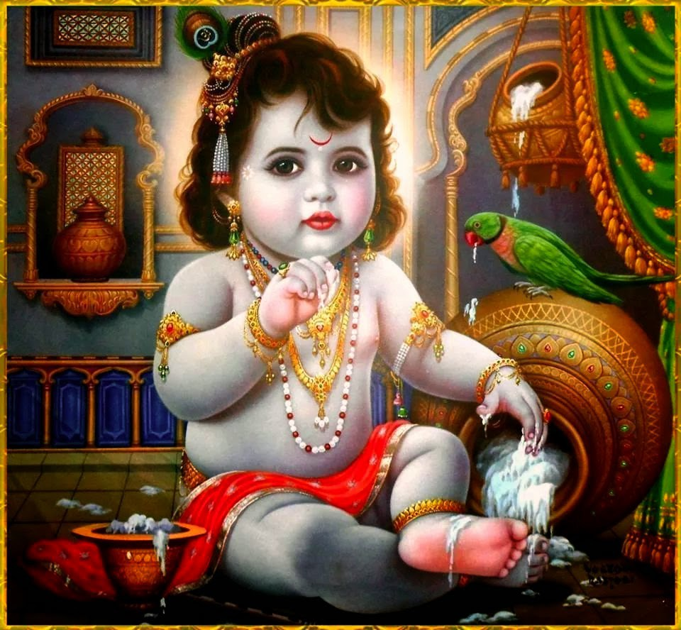 Bal Gopal Hd Wallpaper Baby Krishna Free Wallpaper