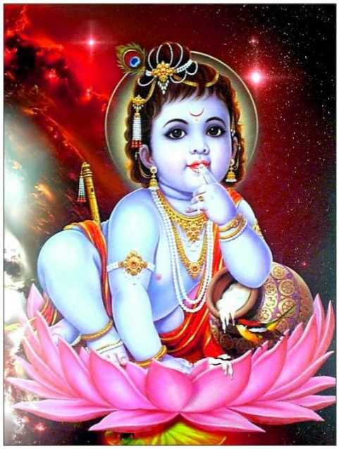 Little Baby Krishna Makhan Chor Cute Beautiful Mobile