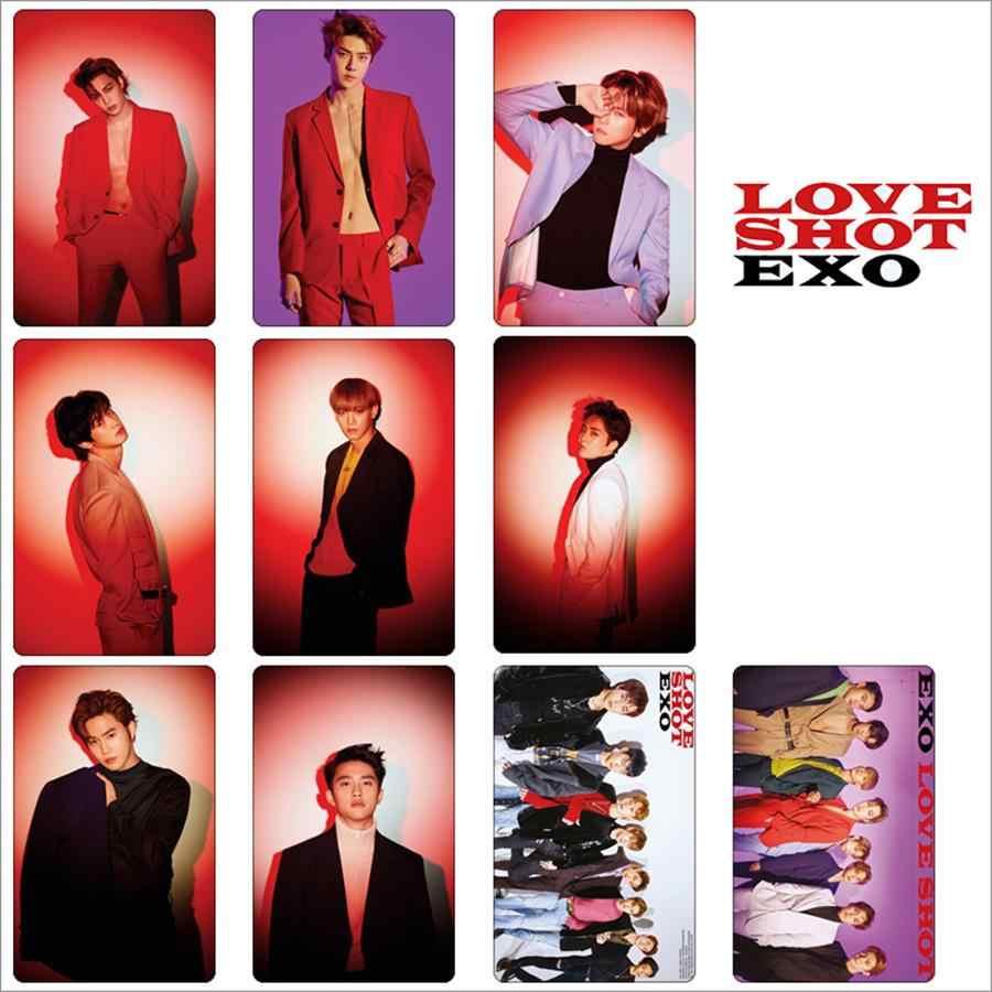 Kpop EXO Photocard Stickers Love Shot Baekhyun Chanyeol