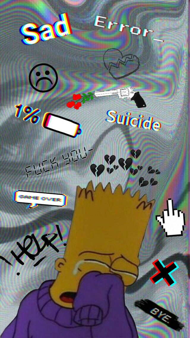 Bart Simpson Sad Wallpaper Posted By Ethan Tremblay