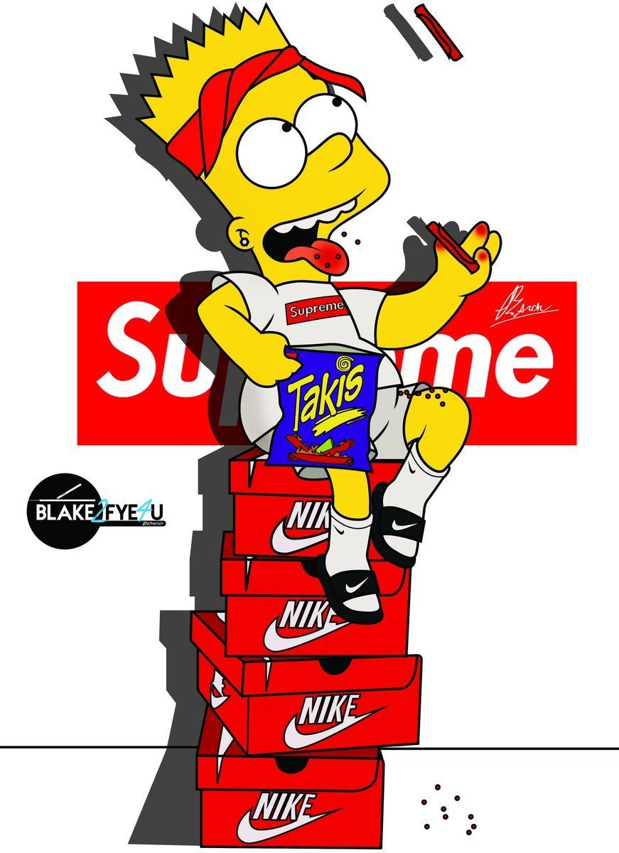 Bart Simpson Supreme Wallpapers Posted By Zoey Walker