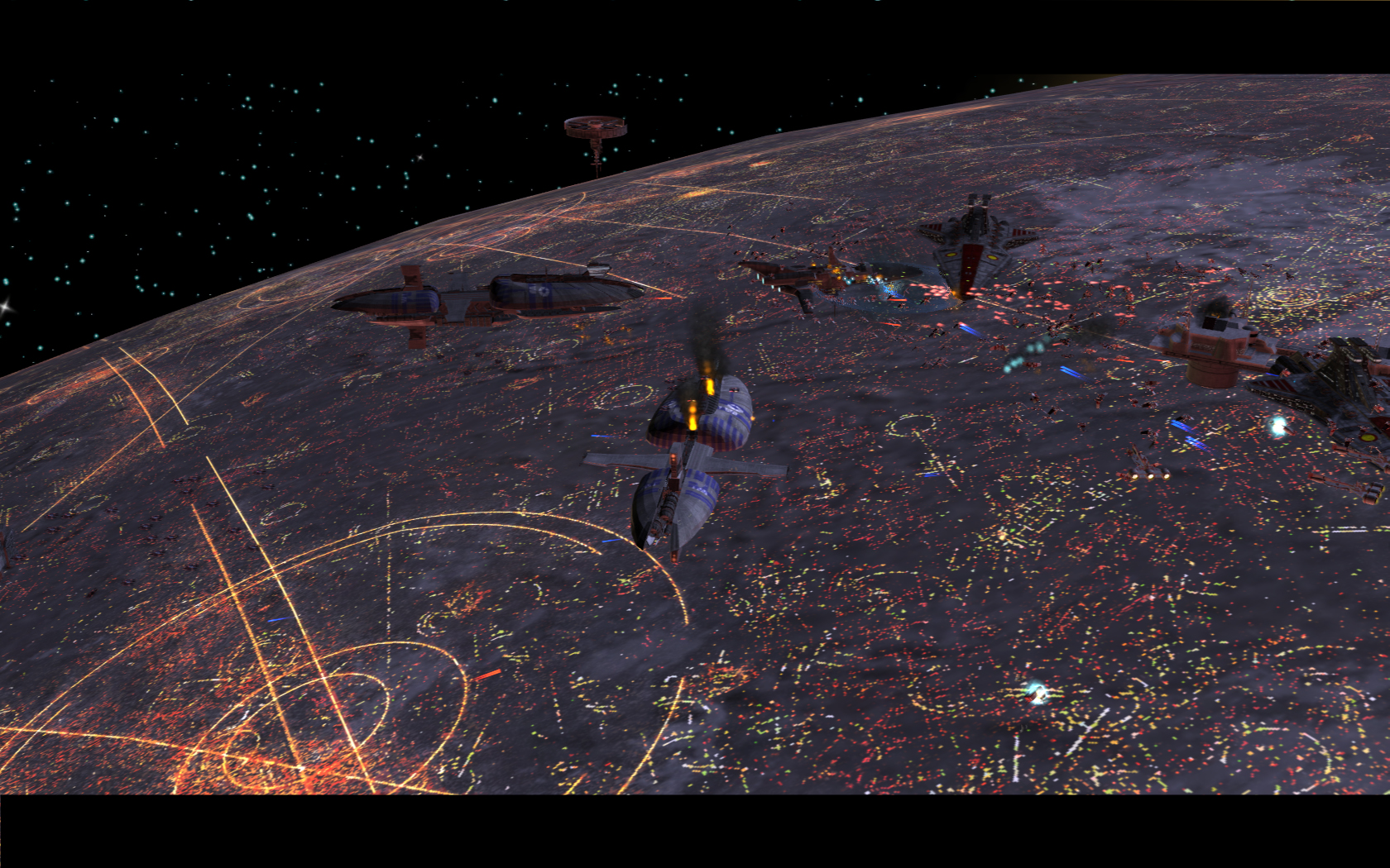 Battle Over Coruscant Wallpaper Posted By Christopher Johnson