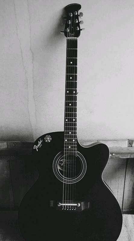 Black Acoustic Guitar Wallpaper Posted By Ryan Simpson